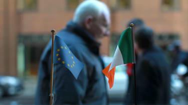 Ireland/EU flags