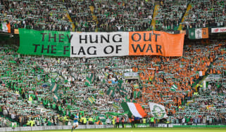 Celtic fans at Parkhead
