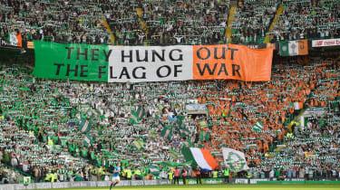 Celtic fans at Parkhead