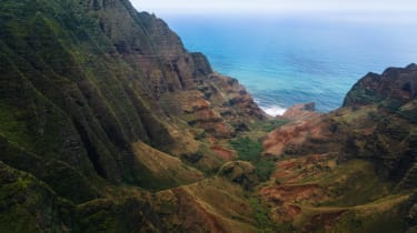 The tour also takes in the Na Pali Coast, one of the world's most dramatic shorelines