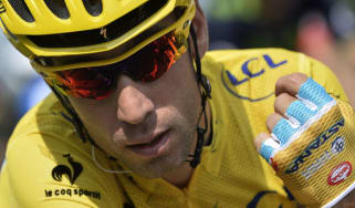Italy's Vincenzo Nibali during the final stage of the 2014 Tour de France