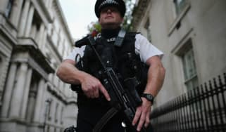 armed policeman