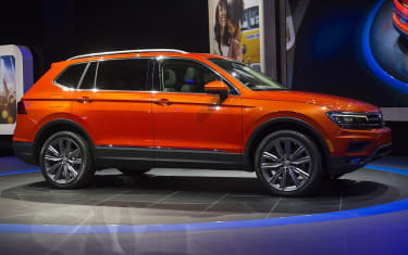 The 2018 Volkswagen Tiguan SUV is unveiled during the 2017 North American International Auto Show in Detroit, Michigan, January 9, 2017. / AFP / SAUL LOEB(Photo credit should read SAUL LOEB/A