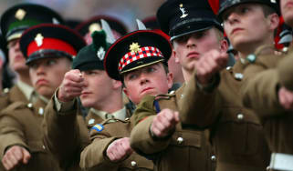 Junior Soldiers take part in Europe's biggest graduation parade at the Army Foundation College, Harrogate
