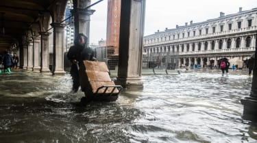 Weather emergency In Venice, italy, on 29 October 2018 due to the High water: almost all the city have been underwater with a maximum level reached of 160cm on the sea level. (Photo by Giacom