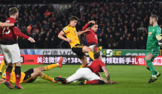 Chris Smalling's own goal gave Wolves their 2-1 victory against Manchester United at Molineux