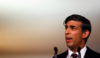 Rishi Sunak delivers a speech to the Conservative Party conference.