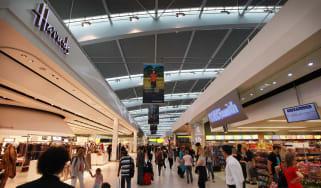 Heathrow Airport departure lounge