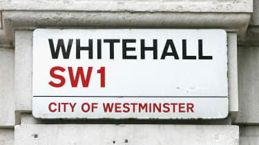 The street sign for Whitehall