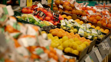 Supermarket fruit and vegetables