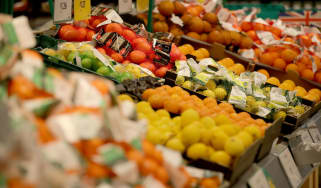 Supermarket fruit and vegetables