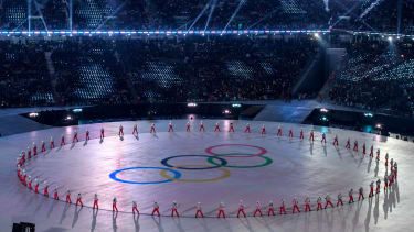 Olympic rings PyeongChang 2018 Winter Olympics