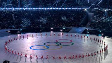 Olympic rings PyeongChang 2018 Winter Olympics
