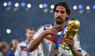 Sami Khedira celebrates Germany's World Cup triumph