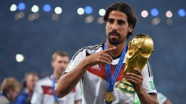 Sami Khedira celebrates Germany's World Cup triumph