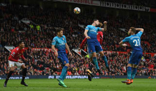 Marouane Fellaini scored a last-minute winner when Man Utd beat Arsenal 2-1 in April 2018