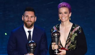Lionel Messi and Megan Rapinoe won the top honours at the 2019 Best Fifa Football Awards