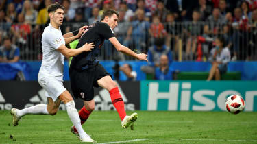 Mario Mandzukic Croatia 2 England 1 World Cup
