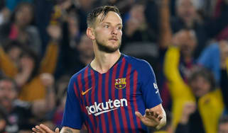 Croatian midfielder Ivan Rakitic is linked with a move away from Barcelona
