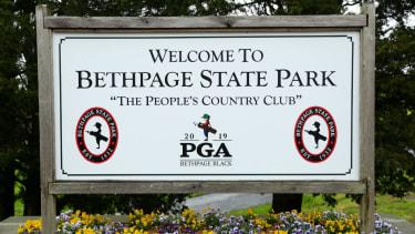 Bethpage Black course hosts the 2019 US PGA Championship golf major
