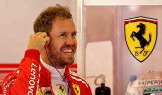 Ferrari's Sebastian Vettel finished second in the 2018 F1 drivers' championship