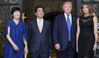 Akie Shinzo Abe Donald Melania Trump
