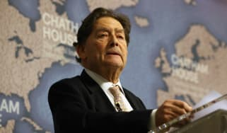 Nigel Lawson when he was Chairman of Vote Leave