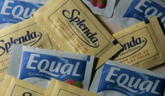 Packages of Equal and Splenda artificial sweeteners
