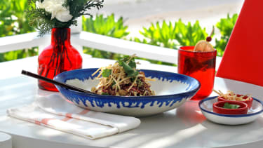 Chinese chicken salad recipe by Jason Wu at the Hotel Esencia in Mexico