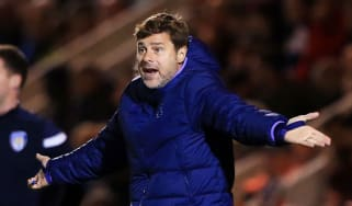 Tottenham boss Mauricio Pochettino reacts during the Carabao Cup loss at Colchester