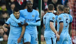Sergio Aguero, Yaya Toure, Man City