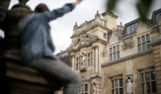 The statue of Cecil Rhodes at Oriel College, Oxford