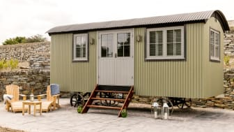 Rick Stein shepherd's huts at The Cornish Arms