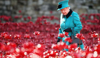 Queen Elizabeth visits the Blood Swept Lands and Seas of Red art installation