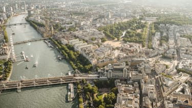 An aerial view of The OWO in London