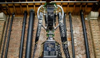 The Six Nations rugby championship trophy