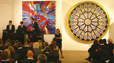 Auction room at Sotheby's