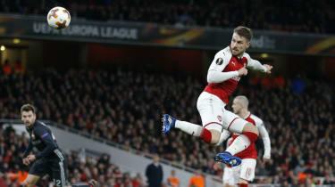 Aaron Ramsey goal Arsenal 4 CSKA Moscow 1 Europa League