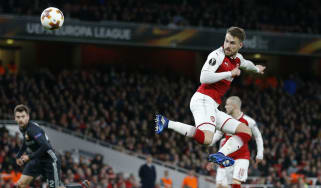 Aaron Ramsey goal Arsenal 4 CSKA Moscow 1 Europa League