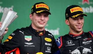 Red Bull's Max Verstappen and Toro Rosso's Pierre Gasly finished first and second at the 2019 F1 Brazilian GP