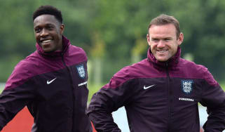 Wayne Rooney and Danny Wellbeck at St George's Park