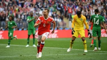 Denis Cheryshev goal Russia vs. Saudi Arabia