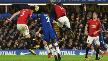 Manchester United captain Harry Maguire scored his side's second goal against Chelsea