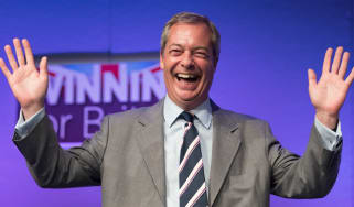Farage smiling