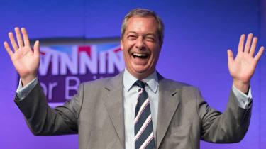 Farage smiling