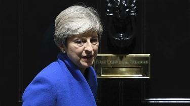 Theresa May at No 10