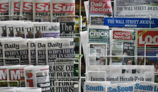 Today's newspaper front pages