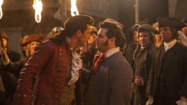 Luke Evans and Josh Gad in Beauty and the Beast