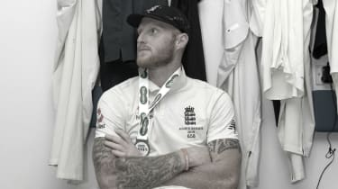 England star Ben Stokes takes a moment in the dressing room after the Headingley Ashes Test