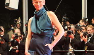Tilda Swinton at Cannes premiere of We Need to Talk About Kevin